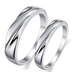 Infinity Journey Forever Love Silver Plated Mens Women Promise Ring Couple Wedding Bands for Women Size 5 SR409W5 JewelryMiu