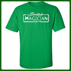 Santa's Magician Christmas - Adult Shirt L Irish-green - Holiday and seasonal shirts (*Amazon Partner-Link)