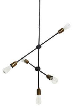 Pendelleuchte Molecular / H 78 cm, Gestell schwarz / Fassungen Messing von House Doctor finden Sie bei Made In Design, Ihrem Online Shop für Designermöbel, Leuchten und Dekoration.
