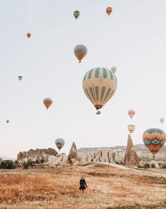 Hot air balloon festival in Cappadocia, Turkey. Wanderlust bucket list of places to travel and a visit on a vacation trip to Europe. Places To Travel, Oh The Places You'll Go, Travel Destinations, Turkey Destinations, Landscape Photography, Travel Photography, Desert Photography, Photos Voyages, Travel Aesthetic