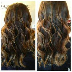dark brown hair with caramel highlights - Google Search