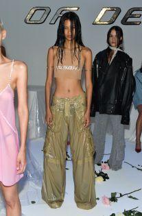 """newwavehesperiandeathhorse: "" Misbhv Spring 2017 "" 'wet look' ❤️ "" Early 2000s Fashion, 90s Fashion, Grunge Fashion, Runway Fashion, High Fashion, Fashion Outfits, Fashion Ideas, Fashion Black, Vintage Fashion"