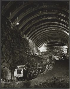 Tunnel construction at Snowy Mountains Hydro Scheme, in the Photo shared from National Library of Australia. Snowy Mountains, My Land, Back In The Day, Alps, Historical Photos, Old Photos, Melbourne, Sydney, Past