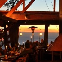 Nepenthe Restaurant, Big Sur, California. Delicious food, great atmosphere.