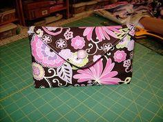 Envelope Style Makeup Bag Tutorial: Boho Blossom