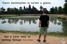 In awe of Anchor Wat while traveling in Cambodia Facing Fear, Ha Long Bay, Henry Miller, Ways Of Seeing, Play Soccer, New Perspective, Amazing Quotes, Disappointment, Travel Quotes