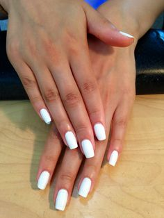Gel Manicure, Pure White.