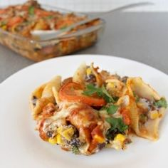 Enchilada stuffed pasta shells. Finally tried these and they were delicious!