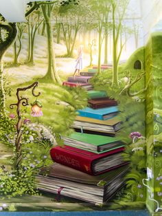 imaginative murals for kids rooms
