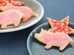 The Neelys' Butter Cookies : Pat and Gina Neely cut their sparkly sugar cookies into pigs, but these classic cutouts work with any shape and will be the star of your cookie swap.