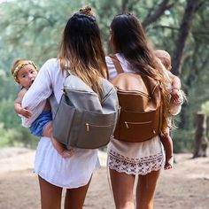 Fawn Design Diaper Bag or Anytime Bag!    These bags can be worn as messenger bag or a backpack! They are faux leather on the outside as well as the inside, making the entire bag wipe able. The inside also pulls out for easy cleaning. Fawn Design bags don't look like most diaper bags, but still have all the function. They're so stylish the men in your life won't mind carrying them around!    http://www.fawndesign.com    diaper bag, backpack diaper bag, faux leather bag, leather backpack, mom…
