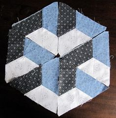 Half hexagons making an interesting design - just need brighter colours !