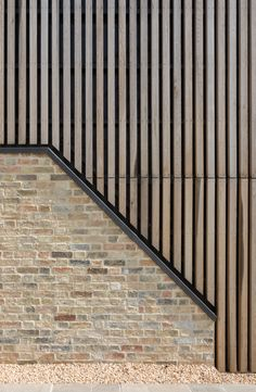 Oak cladding - White American Oak and Anthra VM Zinc - Wood Cladding Exterior, Zinc Cladding, Cladding Design, Wood Facade, House Cladding, Timber Architecture, Timber Buildings, Residential Architecture, Architecture Details