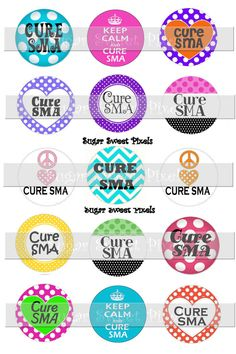 INSTANT DOWNLOAD Cure SMA 1 inch circle Digital by sugarnspicebow