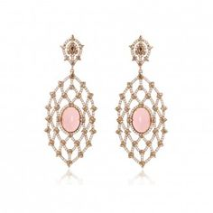"""""""Sutra Pink Coral & Diamond Earrings Rose Gold and set with Pink Coral surrounded by Diamonds"""" (quote) By Annoushka Designed by Arpita Navlakha Rose Gold Earrings, Bridal Earrings, Crystal Earrings, Diamond Earrings, Diamond Quotes, Moonstone Jewelry, Gemstone Rings, Pink Opal, Fantasy Jewelry"""