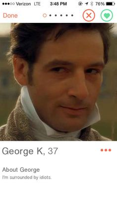 17 Jane Austen Characters, If They Were On Tinder. Not all funny or accurate but some are good! Jane Austen Mansfield Park, Jane Austen Movies, Emma Jane Austen, Jane Eyre, Jeremy Northam, Im Surrounded By Idiots, Elizabeth Gaskell, Bronte Sisters, British Things