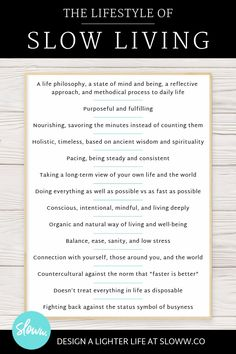 Slow Living What is Slow Living? Slow Living What is Slow Living? Slow Living, Mindful Living, Minimalist Lifestyle, Minimalist Living, Hygge, Thing 1, Simple Living, Sustainable Living, Blog