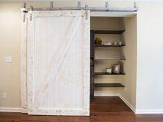 Love this whitewashed barn door!