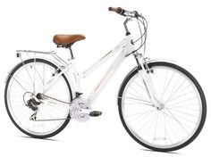 Compare Northwoods Springdale Hybrid Bike - Women, White prices online and save money. Find the lowest price on your favorite Northwoods Springdale Hybrid Bike - Women, White now. Road Bikes, Cycling Bikes, Cycling Equipment, Road Cycling, Cycling Jerseys, Mountain Bike Shoes, Mountain Biking, Commuter Bike, Cool Bike Accessories