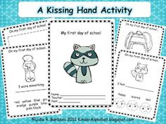 The Kissing Hand is a classic book for many kindergarten classrooms on the first day of school. Here are 27 Kissing Hand freebies, activities and videos. First Day Of School Activities, Kindergarten First Day, 1st Day Of School, Beginning Of The School Year, Kindergarten Literacy, Literacy Activities, School Days, Kindergarten Graduation, Alphabet Activities