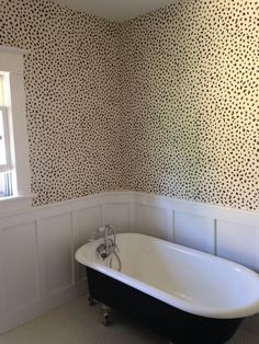 Thibaut Tanzania wallpaper...just had this fabulous pattern installed in my client's bathroom. Prrrrrrrr!