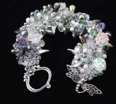 Bead Stew Bracelet/ Moon Flowers, Earthfaire
