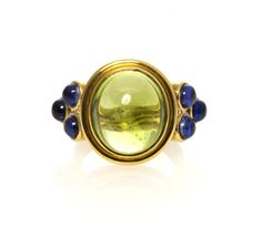 Temple St. Clair peridot and tanzanite Ring