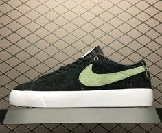 "2019 Nike Sb Zoom Blazer Low QS ""Stussy X Terps"" Black Palm Green 734715d0e"