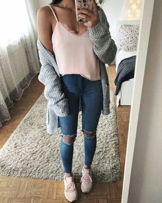 Cute Winter Outfits for Going Out Teenage Outfits, Cute Outfits For School, Cute Winter Outfits, Teen Fashion Outfits, Cute Casual Outfits, Mode Outfits, College Outfits, Outfits For Teens, Fall Outfits