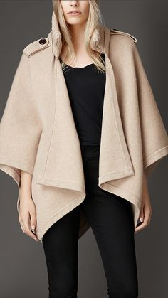 Wool Cashmere Cape | Burberry
