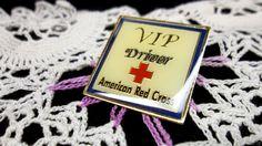 VIP Driver American Red Cross Lapel Pin ARC Hat Tack