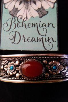 Bohemian Jewellery, Etsy Earrings, Agate, Orange, Silver Cuff, Cuff Bracelets, Boho Accessories, Bohemian Gypsy, Autumn