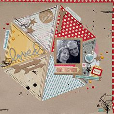 Loved ... unique scrapbook layout