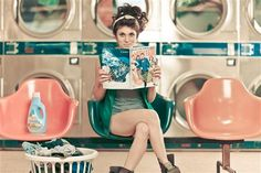 """""""I've always thought my friend Rocky looked like she'd play the part of a single girl in a romantic comedy who did laundry at her local laundromat. I asked if I could try to make that come to life and here is what we came up with."""""""