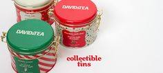 Collectible Tins (holiday) by DavidsTea Holiday Gift Guide, Holiday Gifts, Davids Tea, Tea Quotes, Tin Gifts, Tea Accessories, Herbal Tea, Tins, Coffee Cans