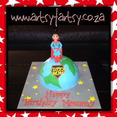 Supermom Birthday Cake #supermom