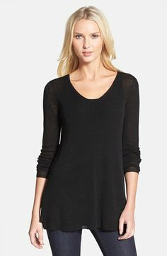 Eileen Fisher V-Neck Linen Blend Tunic available at #Nordstrom.  Easy to wear over leggings or jeans.