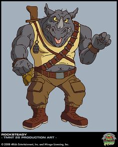 Check out this transparent Teenage Mutant Ninja Turtles Rocksteady the Rhinoceros PNG image Teenage Mutant Ninja Turtles, Tmnt, 4kids Tv, Foto Do Goku, Ninja Turtle Pizza, Bebop And Rocksteady, Turtles Forever, Cartoon Turtle, Retro