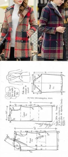 Amazing Sewing Patterns Clone Your Clothes Ideas. Enchanting Sewing Patterns Clone Your Clothes Ideas. Sewing Dress, Sewing Coat, Dress Sewing Patterns, Sewing Clothes, Clothing Patterns, Coat Pattern Sewing, Pattern Drafting, Barbie Clothes, Fashion Sewing