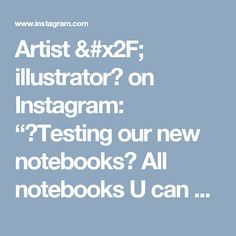 """Artist / illustrator🎨 on Instagram: """"🔹Testing our new notebooks📒 All notebooks U can see in the previous post and at our Etsy shop (BeeHappyShop).…"""""""
