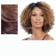Equal (SNG) Lace Deep Diagonal Part Flower Blossom  - Color OF23033 - Synthetic (Curling Iron Safe) Diagonal Invisible Part Lace Front Wig - Closed Invisible Part