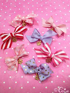 Cerise Ribbon barrette - Cerise Web Store
