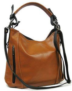 sac à main avec bandoulière amovible, en cuir italien de haute qualité! camel