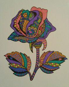 Mindfull kleuren Roos