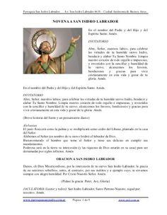 NOVENA A SAN ISIDRO LABRADOR - Parroquia San Isidro Labrador https://www.yumpu.com/es/document/view/14374819/novena-a-san-isidro-labrador-parroquia-san-isidro-labrador
