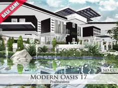 Modern Oasis 17 by Pralinesims at TSR via Sims 4 Updates