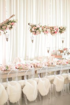modern rustic chic pink wedding decor