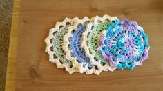 Cotton Dishcloths Lotus Bloom Cotton Dishcloths by CrochetbyKathie