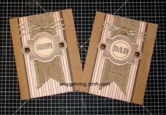 Father's Day or all-occasion male cards using CTMH Buzz & Bumble. https://www.facebook.com/craftingwithamy
