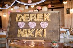 string art wedding sign // photo by HalfOrangePhotography.com